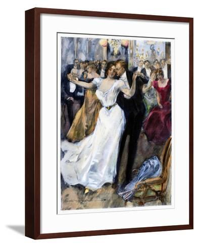 Society Ball, C1900-Hal Hurst-Framed Art Print