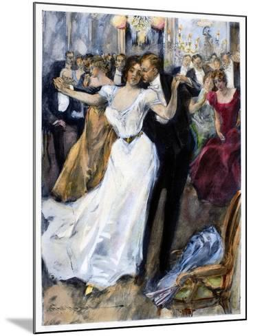 Society Ball, C1900-Hal Hurst-Mounted Giclee Print