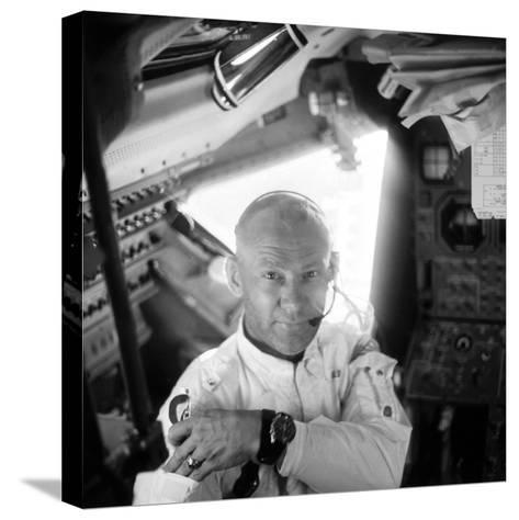 Edwin 'Buzz' Aldrin (1930-)-Neil Armstrong-Stretched Canvas Print