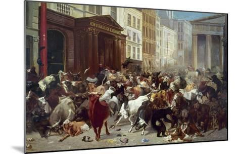 Wall Street: Bears & Bulls-William Holbrook Beard-Mounted Giclee Print
