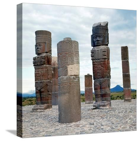 Tula: Toltec Monuments--Stretched Canvas Print