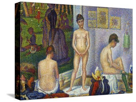 Seurat: Models, C1866-Georges Seurat-Stretched Canvas Print