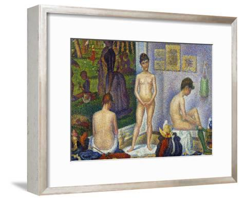 Seurat: Models, C1866-Georges Seurat-Framed Art Print