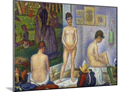 Seurat: Models, C1866-Georges Seurat-Mounted Giclee Print