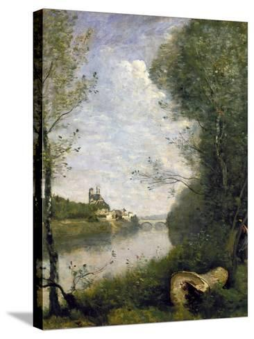 Corot: Cathedral, C1855-60-Jean-Baptiste-Camille Corot-Stretched Canvas Print