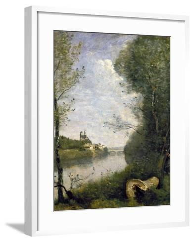 Corot: Cathedral, C1855-60-Jean-Baptiste-Camille Corot-Framed Art Print