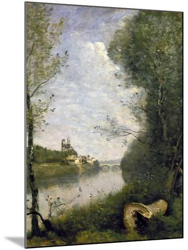 Corot: Cathedral, C1855-60-Jean-Baptiste-Camille Corot-Mounted Giclee Print