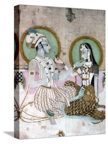 India: Couple--Stretched Canvas Print