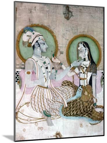 India: Couple--Mounted Giclee Print
