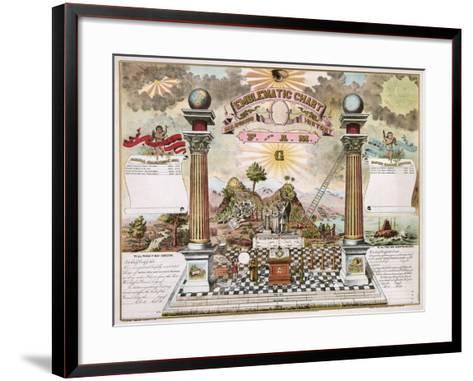 Freemason Emblematic Chart--Framed Art Print