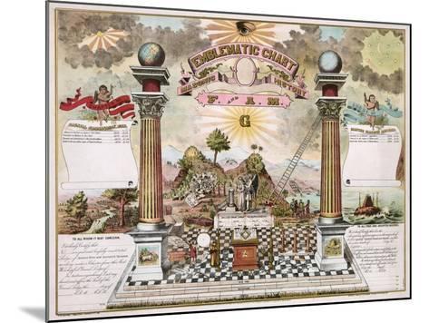 Freemason Emblematic Chart--Mounted Giclee Print