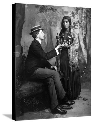 Palm-Reading, C1910--Stretched Canvas Print