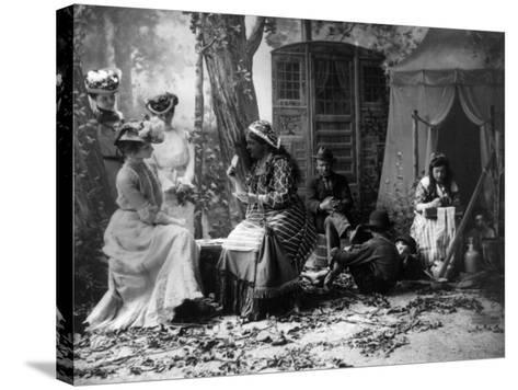 Palm Reading, C1902--Stretched Canvas Print