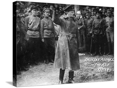 Leon Trotsky (1879-1940)--Stretched Canvas Print