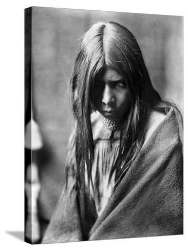 Apache Man, C1906-Edward S^ Curtis-Stretched Canvas Print