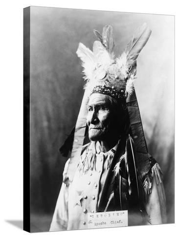Geronimo (1829-1909)-Warren Mack Oliver-Stretched Canvas Print