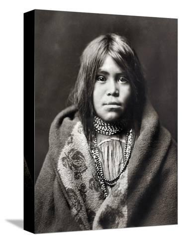 Apache Girl, C1903-Edward S^ Curtis-Stretched Canvas Print