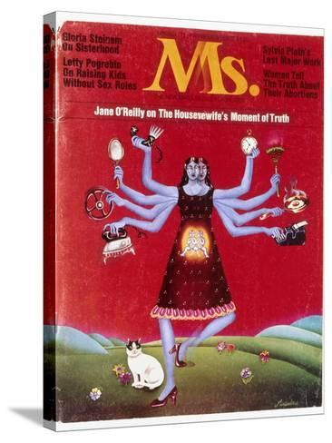 Ms. Magazine, 1972--Stretched Canvas Print