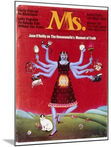 Ms. Magazine, 1972--Mounted Giclee Print