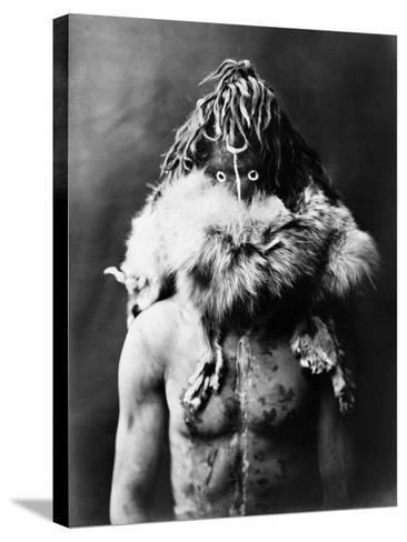 Navajo Mask, C1905-Edward S^ Curtis-Stretched Canvas Print
