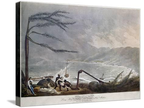 St. Thomas: Hurricane, 1819--Stretched Canvas Print