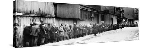 New York City: Bread Line--Stretched Canvas Print