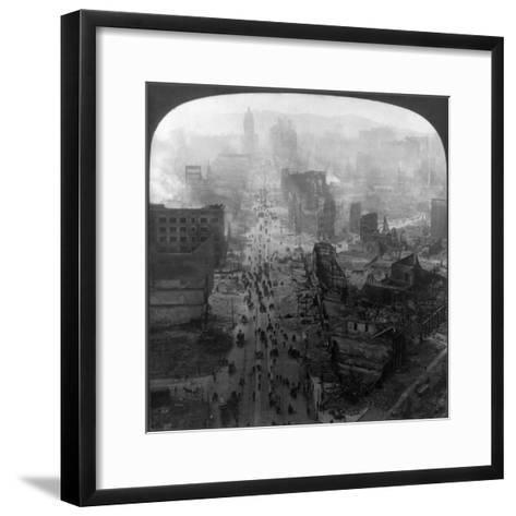 San Francisco Earthquake--Framed Art Print