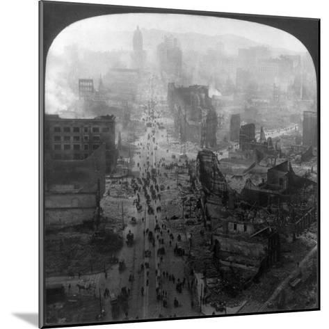 San Francisco Earthquake--Mounted Giclee Print
