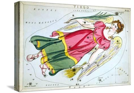 Constellation: Virgo, 1825-Sidney Hall-Stretched Canvas Print