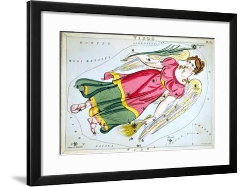 Constellation: Virgo, 1825-Sidney Hall-Framed Art Print