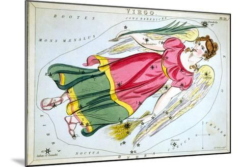 Constellation: Virgo, 1825-Sidney Hall-Mounted Giclee Print