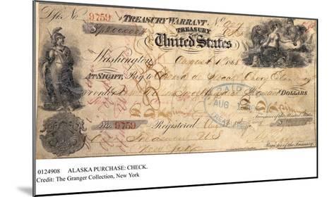Alaska Purchase: Check--Mounted Giclee Print