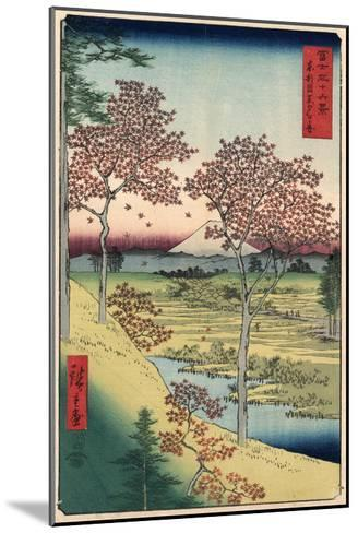 Japan: Maple Trees, 1858-Ando Hiroshige-Mounted Giclee Print