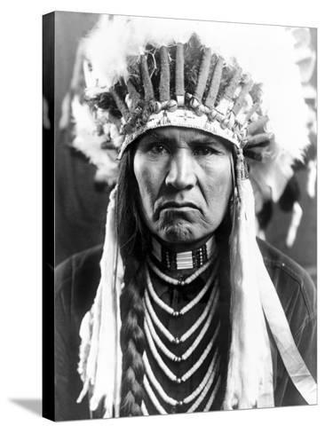 Nez Perce Native American-Edward S^ Curtis-Stretched Canvas Print