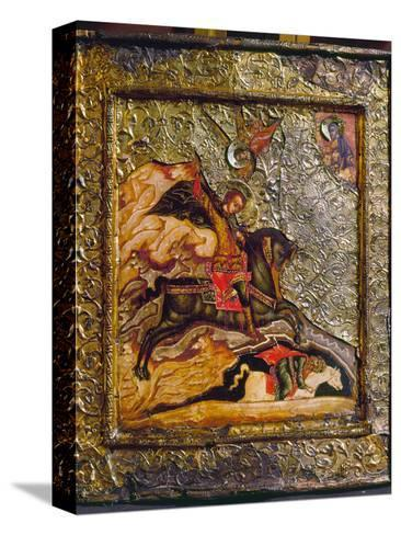 Russian Icon: Demetrius--Stretched Canvas Print