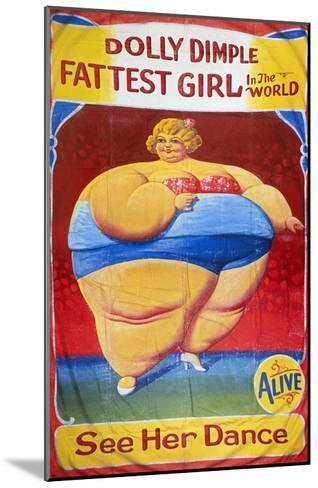 Sideshow Poster, C1949-Nieman Eisman-Mounted Giclee Print