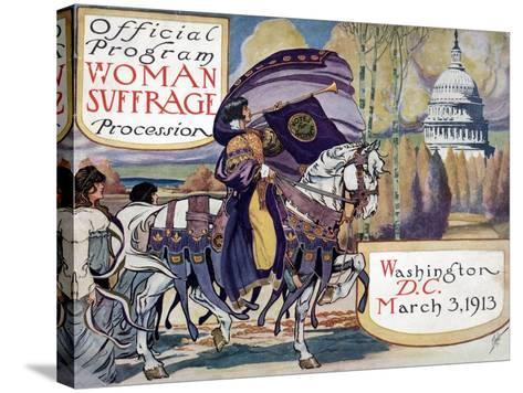 Suffragette Parade, 1913--Stretched Canvas Print