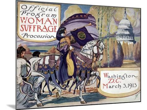 Suffragette Parade, 1913--Mounted Giclee Print