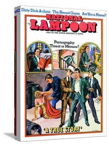National Lampoon, July 1971 - Pornography: Threat or Menace--Stretched Canvas Print