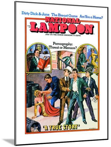 National Lampoon, July 1971 - Pornography: Threat or Menace--Mounted Art Print