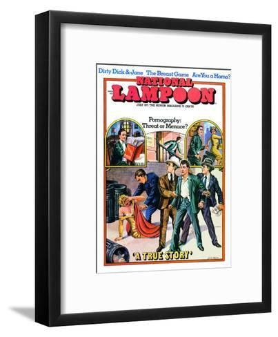 National Lampoon, July 1971 - Pornography: Threat or Menace--Framed Art Print