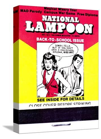 National Lampoon, October 1971 - Back to School Matchbook Issue--Stretched Canvas Print