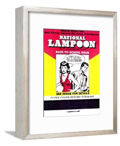 National Lampoon, October 1971 - Back to School Matchbook Issue--Framed Art Print