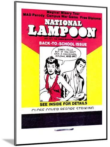 National Lampoon, October 1971 - Back to School Matchbook Issue--Mounted Art Print