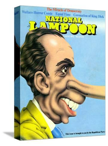 National Lampoon, August 1972 - The Miracle of Democracy--Stretched Canvas Print