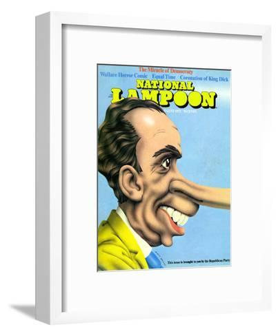 National Lampoon, August 1972 - The Miracle of Democracy--Framed Art Print
