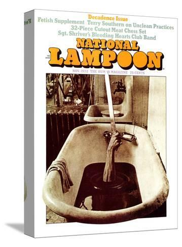 National Lampoon, November 1972 - Decadence Issue--Stretched Canvas Print