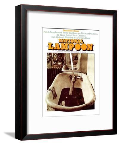 National Lampoon, November 1972 - Decadence Issue--Framed Art Print