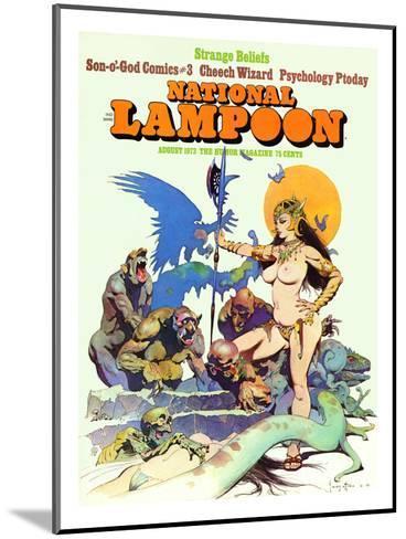 National Lampoon, August 1973 - Strange Beliefs,Sexy Warrior Woman--Mounted Art Print