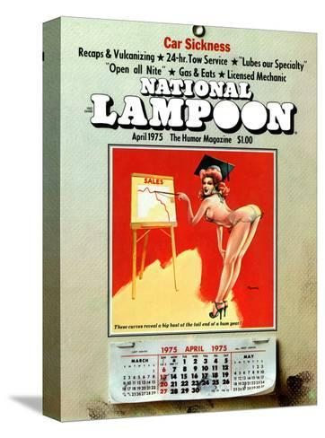 National Lampoon, April 1975 - Car Sickness, the Pin-Up Calendar--Stretched Canvas Print